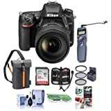 Nikon D750 FX-Format DSLR Camera with AF-S NIKKOR 24-120mm f/4G ED VR Lens - Bundle with 32GB SDHC, Camera Bag, 77mm Filter Kit, Cleaning Kit, Card Reader, Card Case, Remote Shutter Trigger, Software