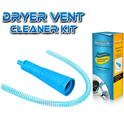 Sealegend Dryer Vent Cleaner Kit Vacuum Hose Attachment Brush Lint Remover Power Washer and Dryer Vent Vacuum Hose