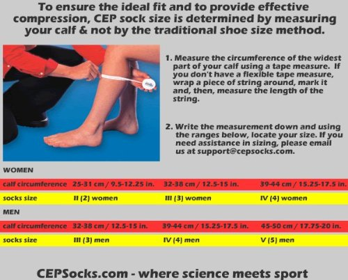 CEP Woman's Running Socks (IV 15.25-17 Inch, Black) by CEP Compression Socks (Image #2)