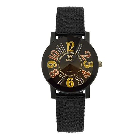 POJIETT Relojes Pareja Hombre Mujer de Moda Especiales Reloj de Pulsera de Cuarzo Analógico en Correa de Nylon Relojes de Chicas Regalos para Mujer ...
