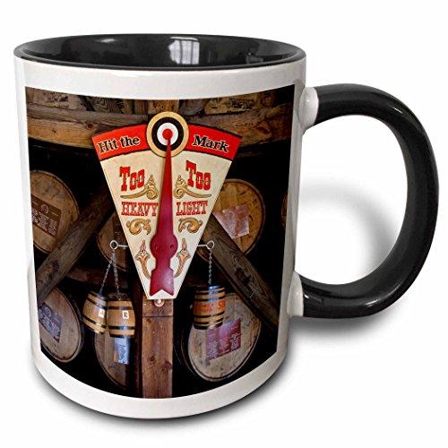 3dRose 90417_4 Kentucky, Makers Mark Bourbon in Wood distillery-US18 LNO0001-Luc Novovitch Two Tone Black Mug 11 oz White