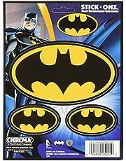 Chroma Black and Gold 25015 Batman Logo 3 piezas Stick Onz calcomanía