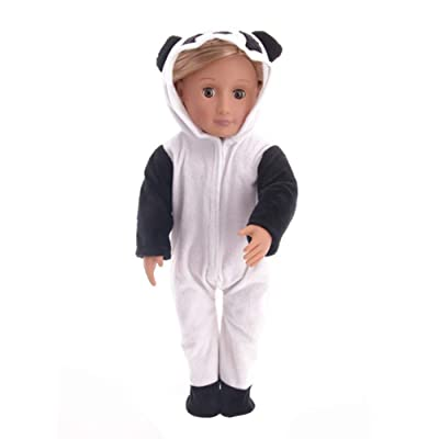 Faironly 1Pcs Cute Cartoon Panda Shape Pajamas Doll Clothes for 18 Inches Girl Doll: Home & Kitchen
