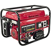 HomCom 5.5HP 2000 Watt 4-Stroke Gas Powered Portable Generator - Red