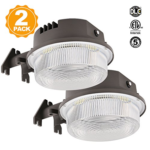 LED Barn Lights Dusk to Dawn Outdoor Area Lighting Fixture Photocell Included BBOUNDER 3600LM 30W (300W Incandescent Equiv.) 5000K Daylight Weatherproof ETL&DLC Listed for Yard Street (2pack)