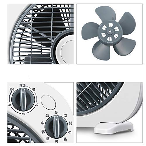 Gelaiken Desktop Fan Home Fan Desktop Fan Home Turn Fan Office Light Tone Fortune Student Fan Dormitory Mini Table Fan Table Desk Fan for Home and Travel by Gelaiken (Image #3)