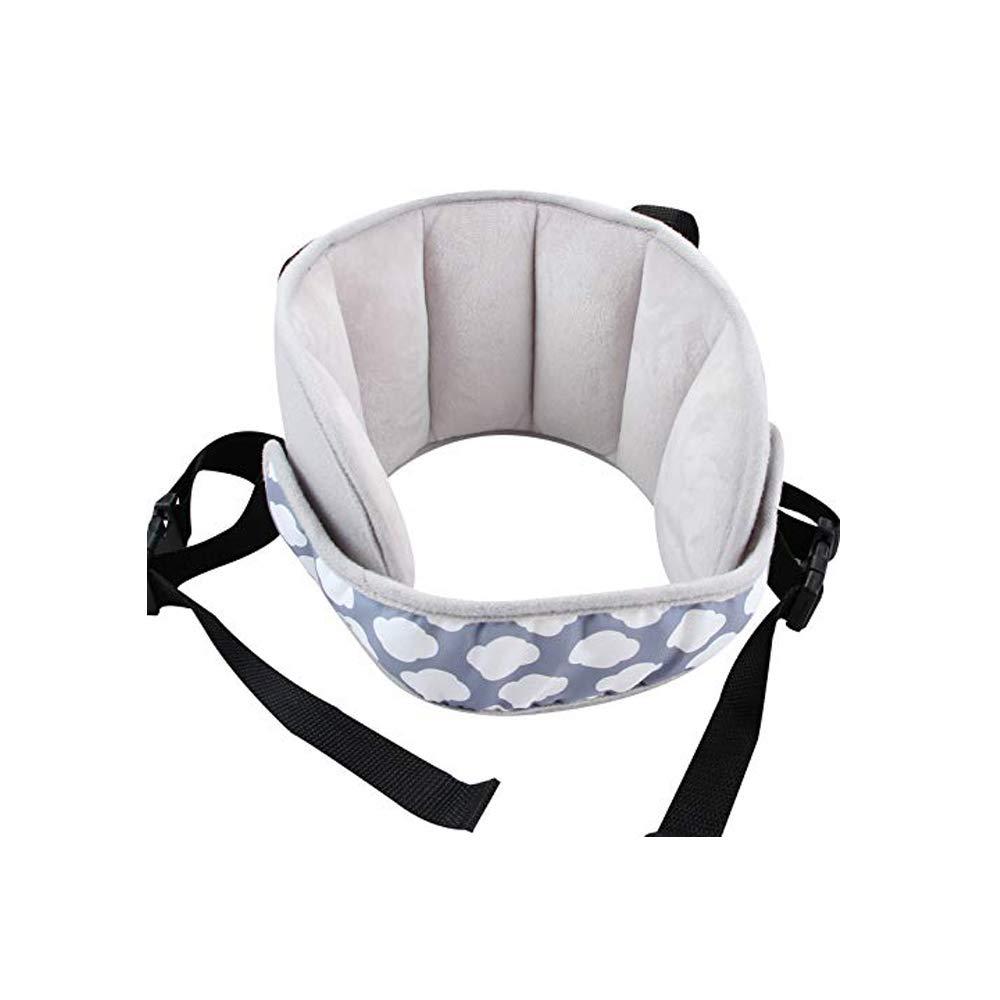 G-Tree Silla de niñ o ajustable cabeza del coche de seguridad venda de la ayuda del sueñ o de la siesta ayuda del cabrito niñ o protector sostenedor por correa Una solució n sueñ o seguro có modo (azul)