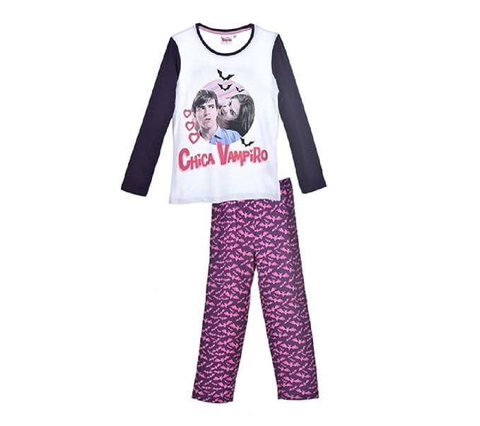 Chica Vampiro – Conjunto pijama – de manga larga y pantalón – Niña Morado violeta 6