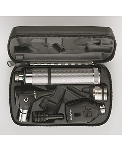 Ophthalmoscope Otoscope (Welch Allyn 97150-M Halogen Hex Diagnostic Set Including Standard Ophthalmoscope, Macro View Otoscope, Rechargeable, Hard Storage Case, Nickel-Cadmium Battery, IEC Plug Type-A, 3.5V)