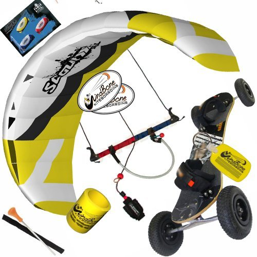 HQ Scout III 3M Kite Mountainboard Kiteboarding Bundle : (5 Items) Includes Landboard + WB Decals + WB Key Chain + WB Can Koozie