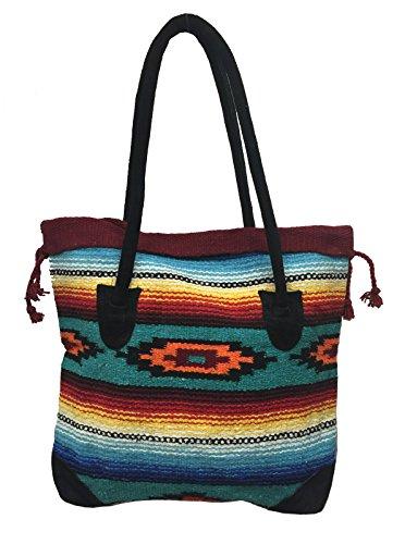 Monterrey Ladies Tote Purse Handwoven Southwestern Aztec Design R - Wholesale Handbags And Purses