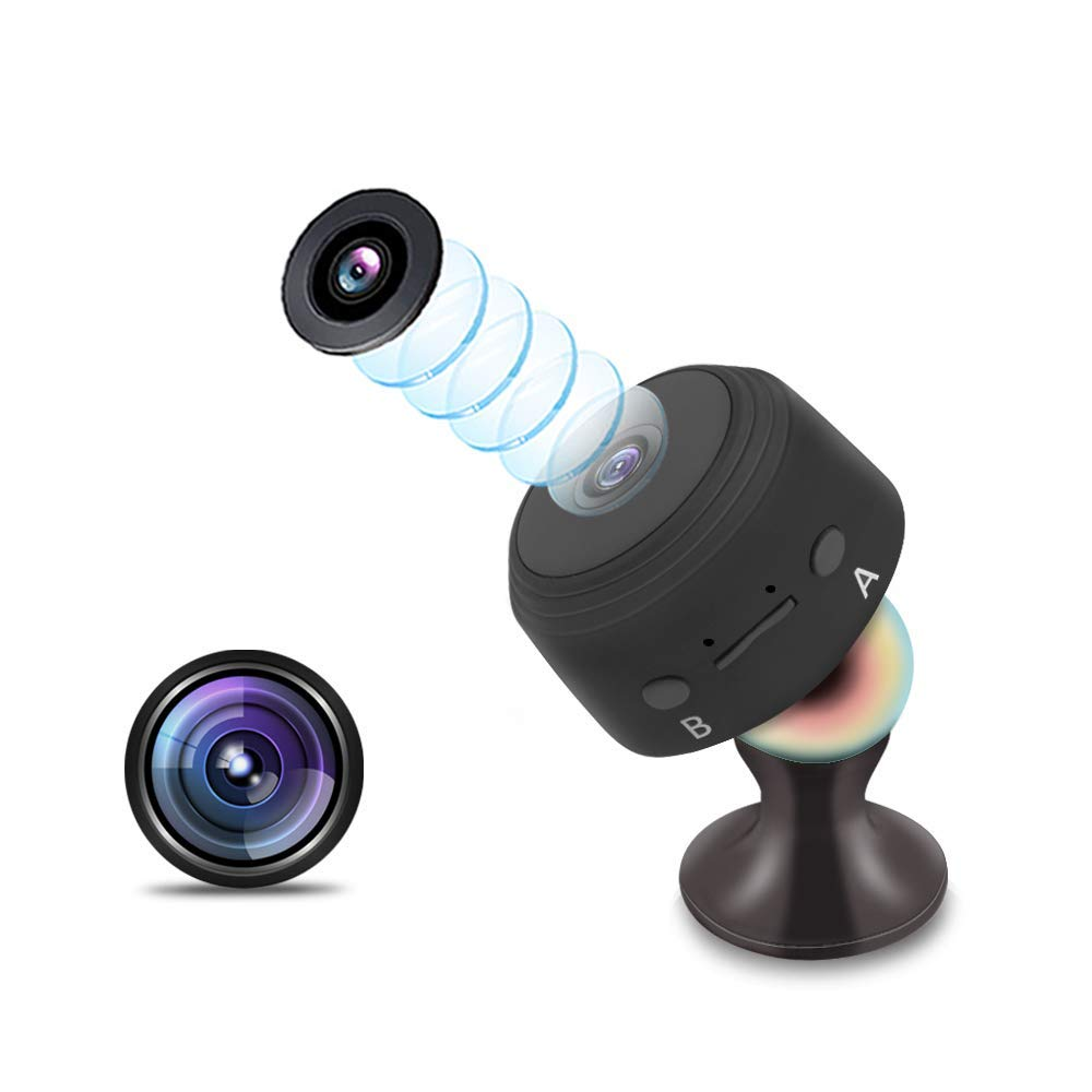 Cámara Oculta, cámara espía Mini niñera de Seguridad para el hogar 1080P HD con monitorización de Movimiento, 120 ° Gran Angular, Video de visión Nocturna: ...