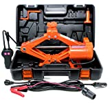 VViViD Electric Automotive 3-Ton Scissor Tire Jack Kit Including Impact Resistant Carrying Case