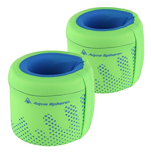 MP Michael Phelps Arm Floats - Fluorescent Green/Light Blue, Large (3-6 Years)