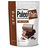 Julian Bakery® Paleo Thin® Protein Double Chocolate Powder (2lbs) (2 Carbs) (30 Servings) (Grass Fed Beef)