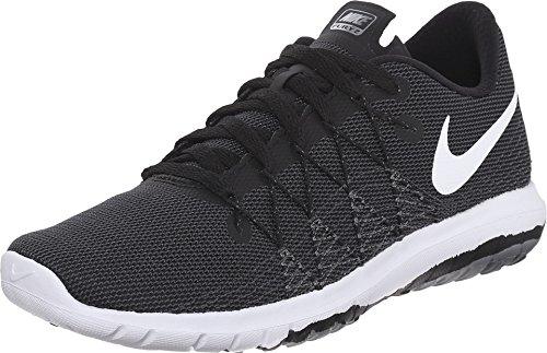 Nike Youth Flex Fury 2 Black Grey Mesh Trainers 39 EU