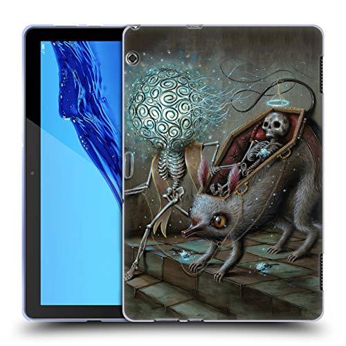 Official Jason Limon No Mans Land Skull Soft Gel Case for Huawei MediaPad T5