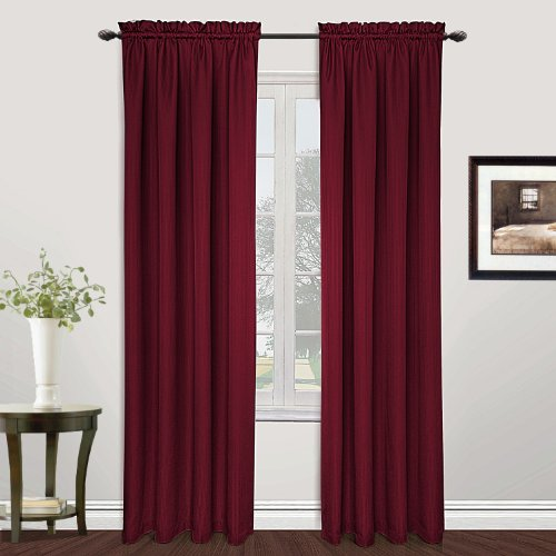 United Curtain Metro Woven Window Curtain Panel, 54 by 72-Inch, Burgundy