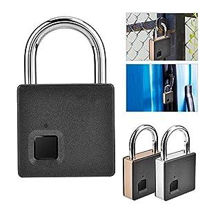 51QdT7XjO7L. SS300 DYWLQ Lucchetto per impronte digitali, lucchetto antifurto intelligente senza password, adatto per porta di casa, zaino…