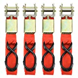 4pc 1'' x 15ft Ratchet Tie Down Dailydeals 928 Cargo Straps Moving Hauling Truck Motorcycle