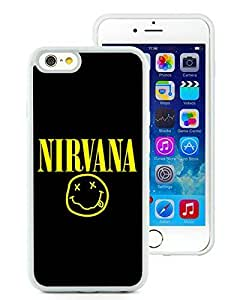 Fashionable Custom Designed Case For iPhone 6 4.7 Inch TPU With Nirvana 1 White Phone Case