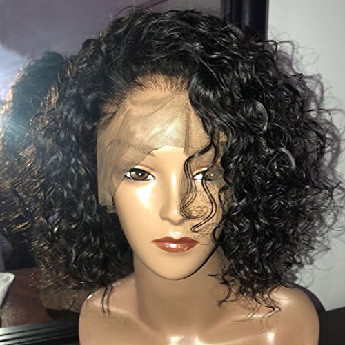 Dorosy Hair 150% Density Curly Full Lace Human Hair Wigs With Baby Hair Pre Plucked Short Human Hair Bob Wigs Brazilian Remy by Dorosy Hair (Image #2)