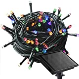 Solar String Lights with 8 Light Effects, 108ft 300 LED Multicolor Solar Powered Christmas Lights, Waterproof for Outdoor, Garden, Patio, Wedding, Party Decoration