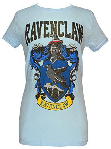 Harry Potter Ravenclaw House Juniors Blue T-shirt (Glitter Blue, Medium) ()