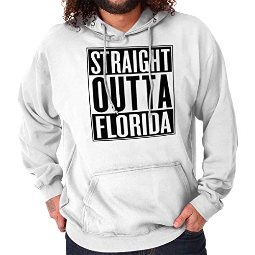 Classic Teaze Straight Outta Florida State FL Movie Gift Hoodie Sweatshirt White ()