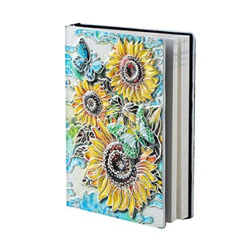 - Travelers Notebook Leather Journal Flowers Embossed Vintage Notebook Multicolor