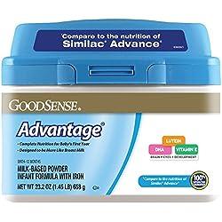 GoodSense Advantage Milk-Based Powder Infant Formula with Iron, 6 Count