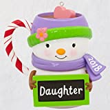 Hallmark Keepsake Christmas Ornament 2018 Year Dated, Daughter Snowman Mug