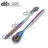 DDP Set of 2 Wartenberg Neurological Pin Wheel Pinwheel 1 & 3 Head Diagnostic Multi Color Rainbow