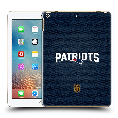 Official NFL Football New England Patriots Logo Hard Back Case for iPad 9.7 2017 / iPad 9.7 2018 by Head Case Designs