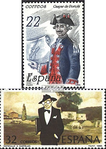 Spain 2749,2756 (Complete.Issue.) 1986 Portola, Castelao (Stamps for Collectors) Uniforms/Costumes