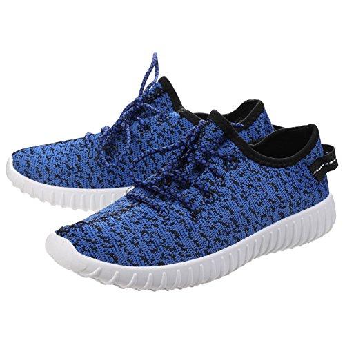 Divaz Womens/Ladies Zest Mesh PVC Flyknit Knit-Weave Low Top Sneakers BLUE