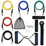 Resistance Bands Set Exercise Bands 11 PCS Door Anchor Attachment, Ankle Strap, Exercise Chart, Carrying Case Review