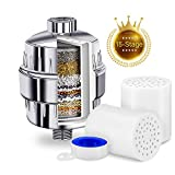 15 Stage Shower Filter Showerhead Water Filters with Universal Multi-stage Cartridge Replacement Remove Chlorine Bacteria Impurities Odors,Improves the Condition of Your Hair and Skin,2 Cartridges