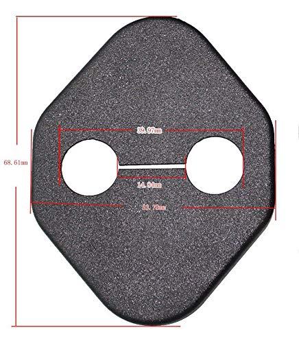 Maite For Honda CITY CRV CIVIC RAV4 Camry COROLLA Odyssey Car Door Lock Protective Cover Anti-corrosion Door Striker Cover Black 4Pcs