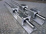 2x SBR16-1500mm 16mm Fully Supported Linear Rail + 4 SBR16UU BlockbEARING