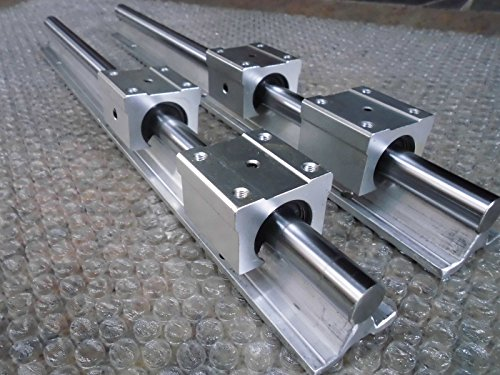 2x SBR12-350mm 12mm Fully Supported Linear Rail + 4 SBR12UU BlockbEARING