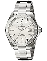 TAG Heuer Men's 'Aquaracer' Swiss Stainless Steel Automatic Watch, Color:Silver-Toned (Model: WAY2111.BA0928)
