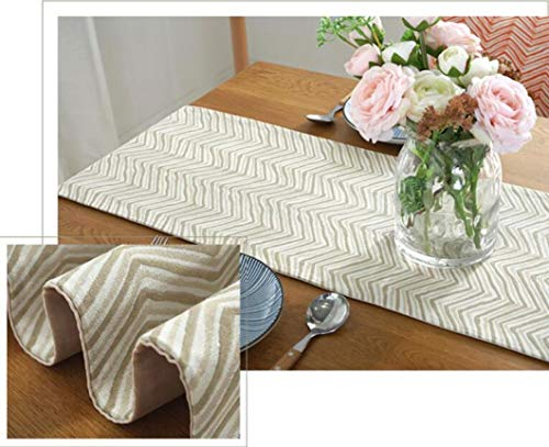 US-ROGEWIN Table Runners Simple Thick Modern Orange Bbeige Green Jacquard Weave Refined Tassels Hotel Home Decor Textile -