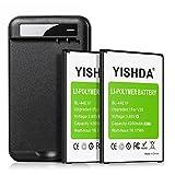 LG V20 Battery (Upgraded), YISHDA 2x4200mAh Li-Polymer Replacement LG BL-44E1F Battery with LG V20 Battery Charger for LG V20 H910 H918 LS997 US996 VS995 | LG V20 Batteries Kit [18 Month Warranty]