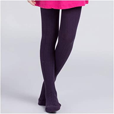 Girls Kids Tights Stockings Bow Knot Winter Warm Knitted Pantyhose Dress Pants