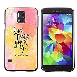 Dragon Case - FOR Samsung Galaxy S5 - Never give up your dreams - Caja protectora de pl??stico duro de la cubierta Dise?¡Ào Slim Fit