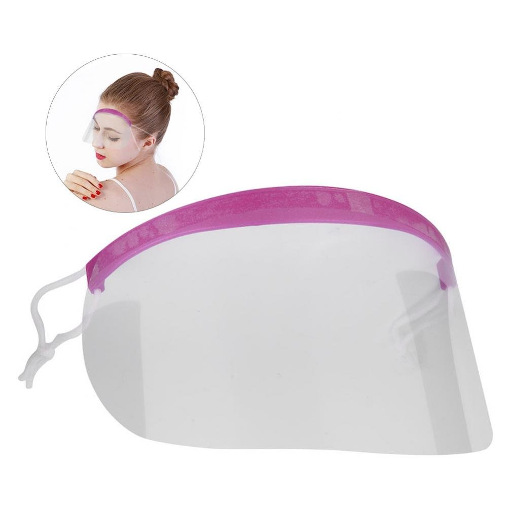 Hairspray Shield, 50Pcs Maschera di sicurezza multifunzionale in plastica trasparente Barber Salon Parrucchiere Hairspray Maschera Shield Eye Face Protector Semme
