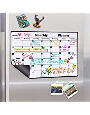 Magnetic Calendar Dry Erase Whiteboard for Fridge, 2019 Weekly and Monthly Planner White Board Memo with Strong Magnet Use as Planner Calendar, Grocery, to Do List Planner Organiser, 43x30cm
