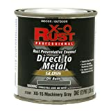True Value XO15-HP Grey Premium X-O Rust Interior/Exterior Gloss Anti Rust Enamel, 1 Half-Pint