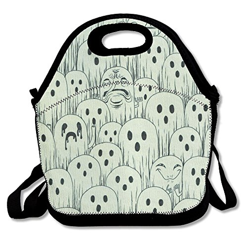 CHI-M Lunch Bag Group Ghost Insulating Handbag Lunchbox Warm Lunch Pouch For School Work Office ()
